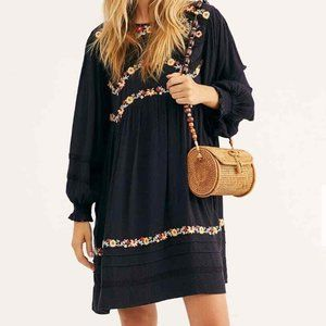 Free People Size Small Dress Pasadena Embroidered